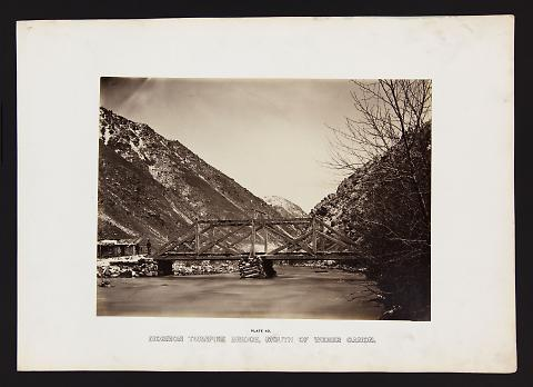 Mormon Turnpike Bridge, Mouth of Weber Canon from The Great West Illustrated in a Series of Photographic Views Across the Continent