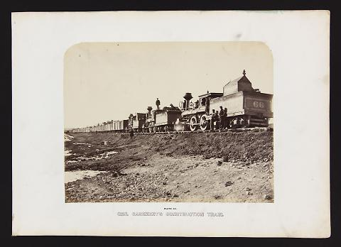 Gen. Casement's Construction Train from The Great West Illustrated in a Series of Photographic Views Across the Continent