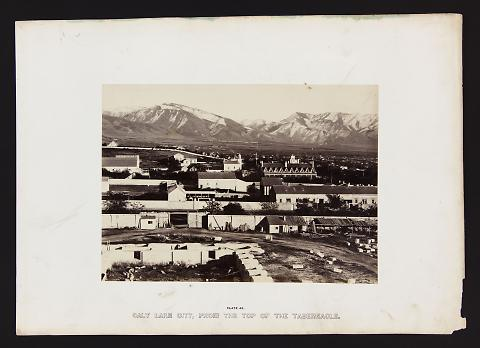 Salt Lake City, From the Top of the Tabernacle from The Great West Illustrated in a Series of Photographic Views Across the Continent