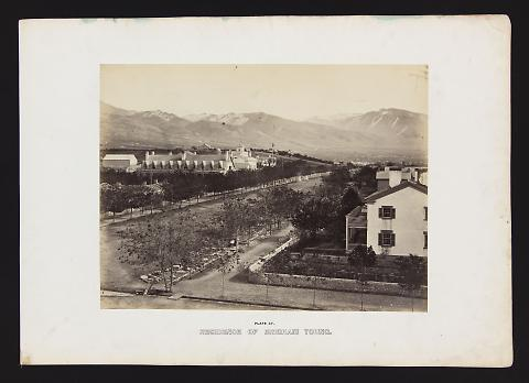 Residence of Brigham Young from The Great West Illustrated in a Series of Photographic Views Across the Continent