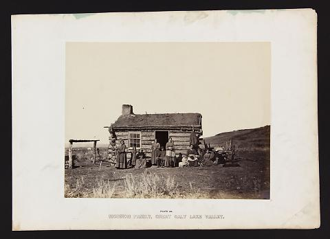 Mormon Family, Great Salt Lake Valley from The Great West Illustrated in a Series of Photographic Views Across the Continent