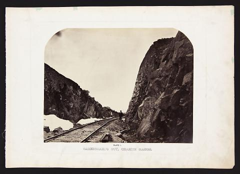 Carmichael's Cut, Granite Canon from The Great West Illustrated in a Series of Photographic Views Across the Continent