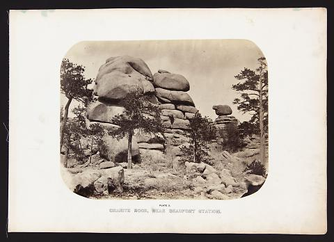 Granite Rock, Near Beaufort Station from The Great West Illustrated in a Series of Photographic Views Across the Continent