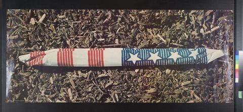 untitled (patriotic marijuana joint)