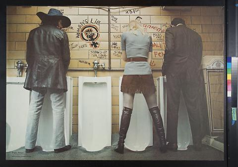 untitled (figures standing at urinals)