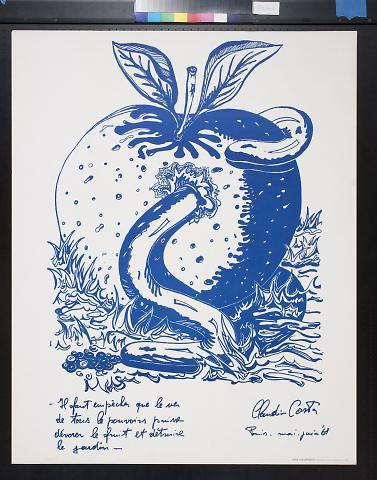 untitled (worm in an apple)