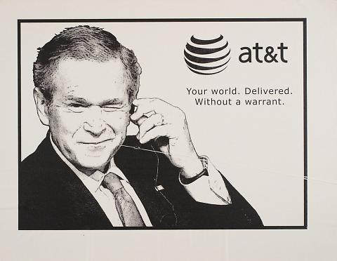 AT&T. Your world. Delivered. Without a warrant.