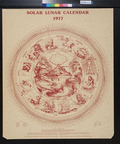 Solar Lunar Calendar 1977