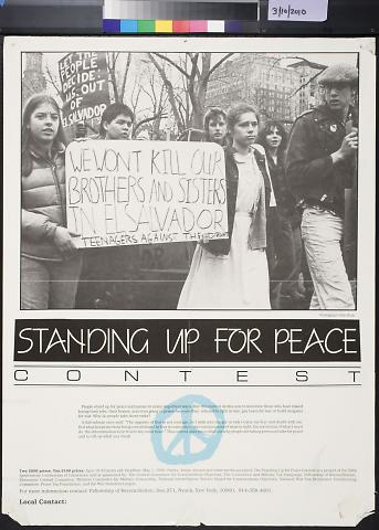 Standing Up For Peace Contest