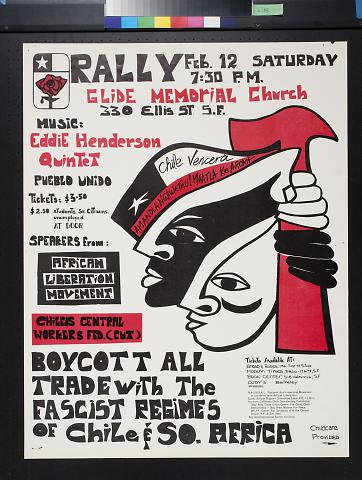 Rally: Boycott all trade with the fascist regimes of Chile & So. [South] Africa