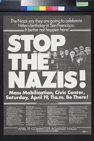 Stop the Nazis! Mass mobiliation, Civic Center