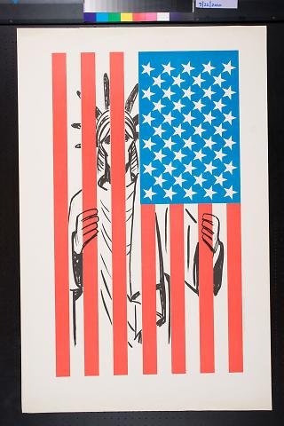 untitled (Statue of Liberty behind bars)