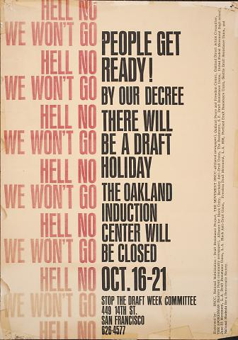 Hell no we won't go : People get ready!
