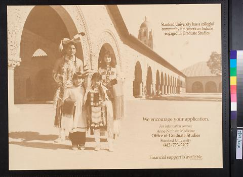 Stanford University has a collegial community for American Indians engaged in Graduate Studies