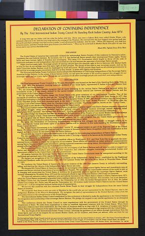Declaration Of Continuing Independence
