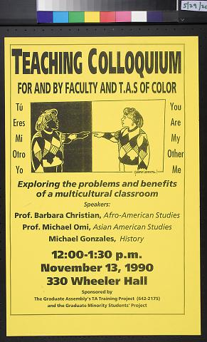 Teaching Colloquium For And By Faculty And T.A.S. Of Color