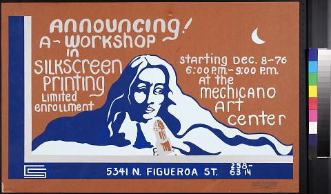 Announcing! A workshop in silkscreen printing