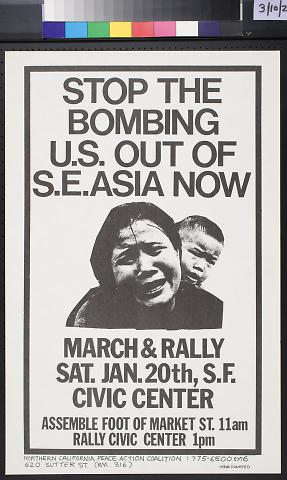 Stop the Bombing U.S. Out of S.E. Asia Now