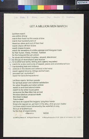 Let A Million Men March