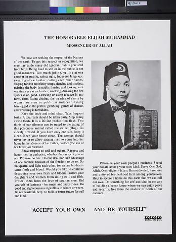 The Honorable Elijah Muhammad: Messenger of Allah