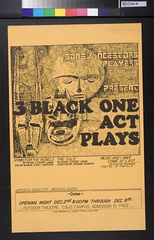3 Black One Act Plays