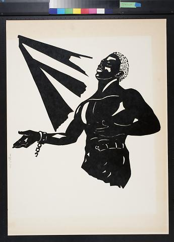 untitled (man shackled at the wrist basking in the rays of the sun)