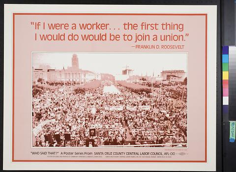 If I were a worker...the first thing I would do would be to join a union.