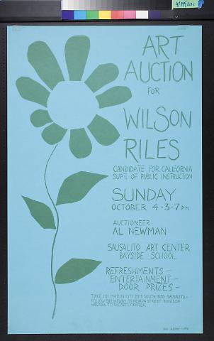 Art Auction for Wilson Riles