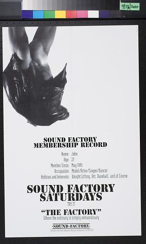 Sound Factory Saturdays
