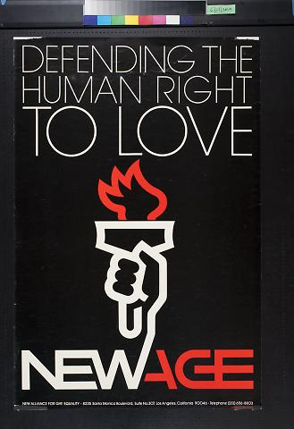 Defending the Human Right to Love, New Age
