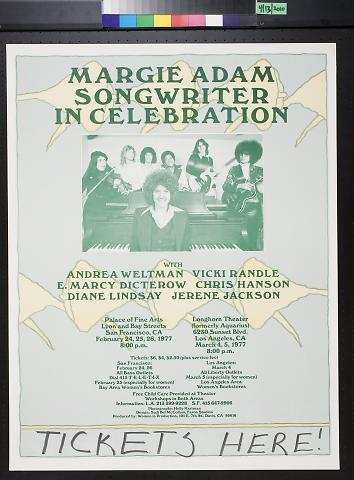 Margie Adam Songwriter In Celebration