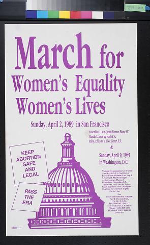 March for Women's Equality Women's Lives