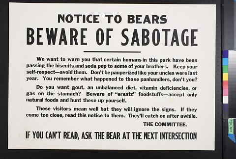 Beware of Sabotage