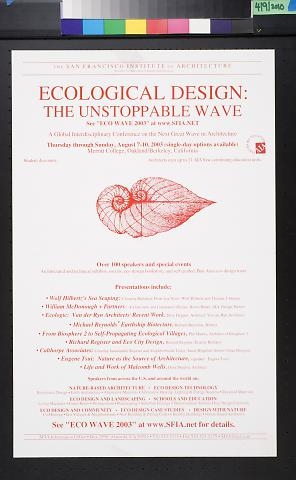 Ecological Design: The Unstoppable Wave