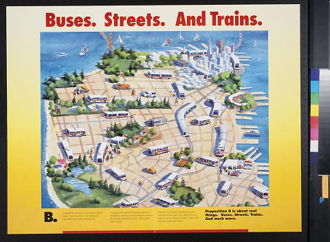 Buses. Streets. And Trains.