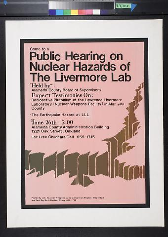 Public Hearing on Nuclear Hazards of the Livermore Lab