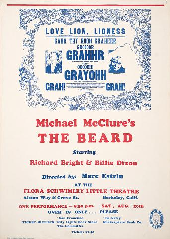 Michael McClure's The Beard: Flora [Florence] Schwimley Little Theater