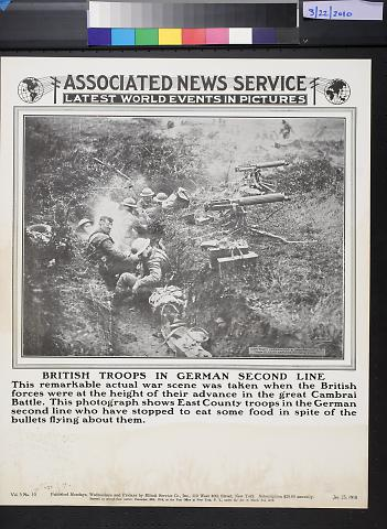 Associated news service: British troops in German second line