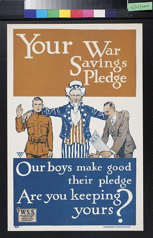 Your War Savings Pledge: Our boys make good their pledge: Are you Keeping yours?
