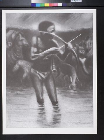 untitled (man hunting in water)