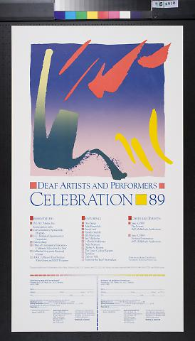 Deaf Artists and Performers, Celebration 89
