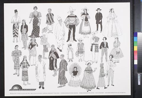 untitled (illustrations of figures in costume)