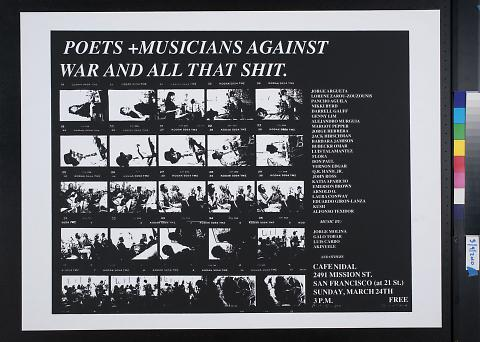 Poets + Musicians Against War and All That Shit