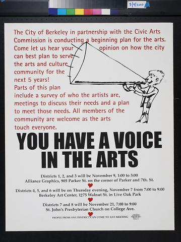 You Have a Voice in the Arts