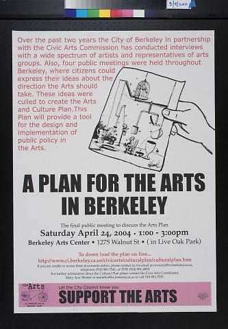 A Plan for the Arts in Berkeley