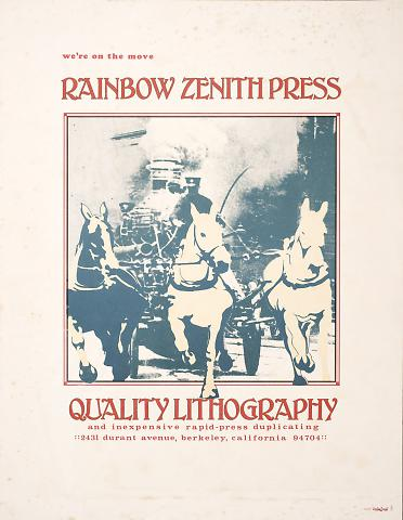 We're On the Move: Rainbow Zenith Press