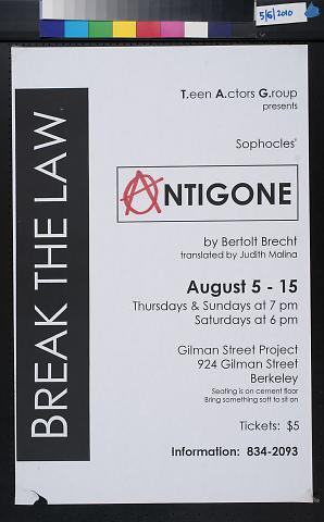 Antigone, Break the Law