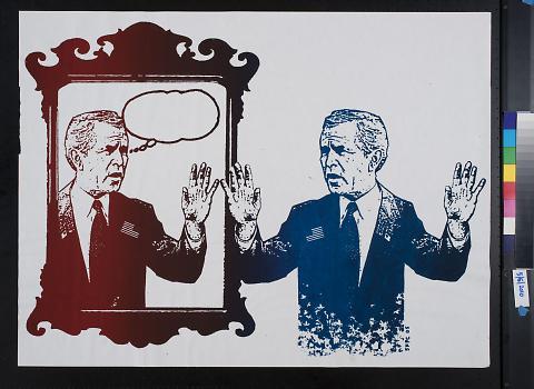 untitled (George W. Bush looking in a mirror)