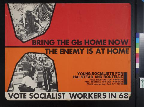 Vote Socialist Workers in 68 [1968]