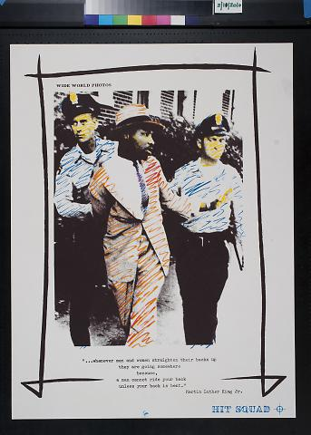 untitled (Martin Luther King, Jr. being arrested by two police officers)